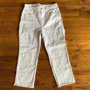 AYR Fixit Jeans White High Waist Wide Leg Crop 31